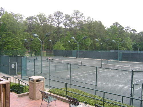 Photo of courts at Samford University
